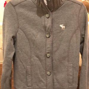 A&F warm button sweater